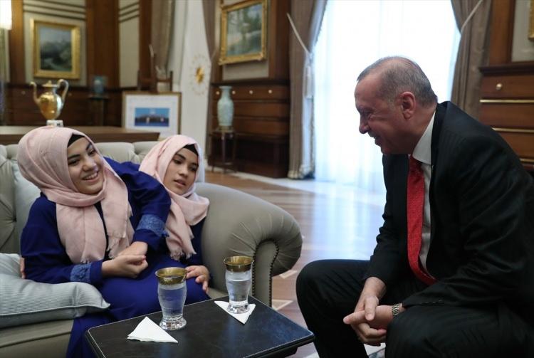Cumhurbaşkanı Erdoğan kabul etti! Cumhurbaşkanlığı Külliyesi'nde samimi anlar! 1