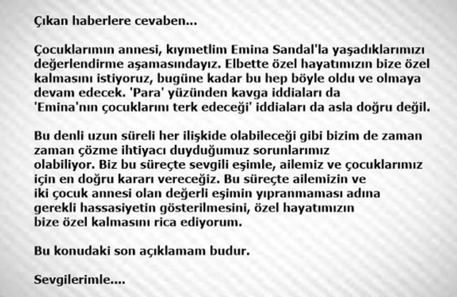 Mustafa, Emina Sandal çifti ayrılıyormu? Mustafa Sandal'dan açıklama var 3