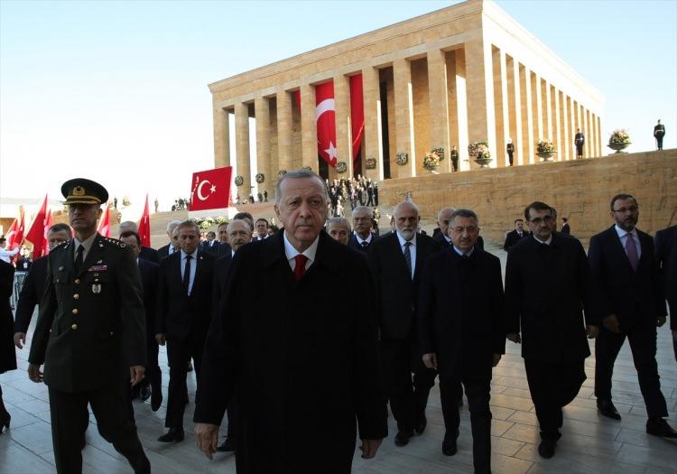 Devlet erkanı Anıtkabir'de! Atatürk, Anıtkabir'de anıldı 1
