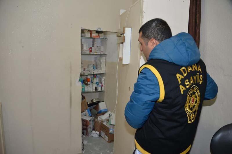 Polisi bile şaşırttı! Adana'da kaçak hastane 1