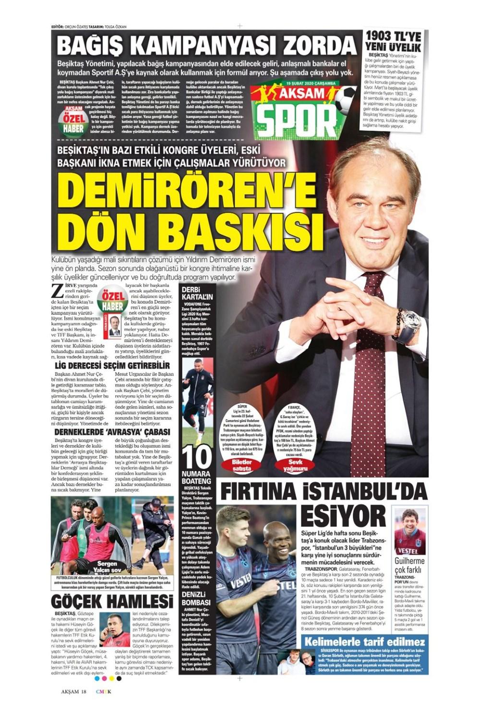 İşte 19 Şubat günün spor manşetleri! Haftanın önemli spor gelişmeleri 1