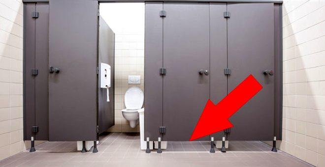 Hiç merak ettiniz mi? Umumi tuvaletlerin kapısı neden yere kadar değmez? 1