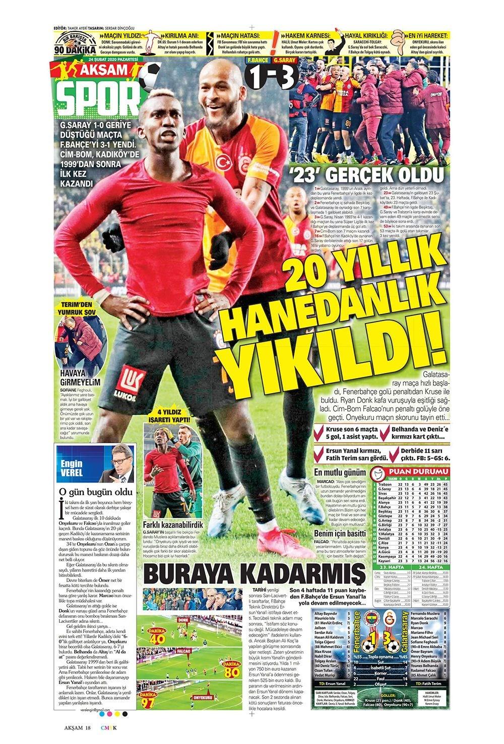 İşte 24 Şubat günün spor manşetleri! Haftanın önemli spor gelişmeleri 1