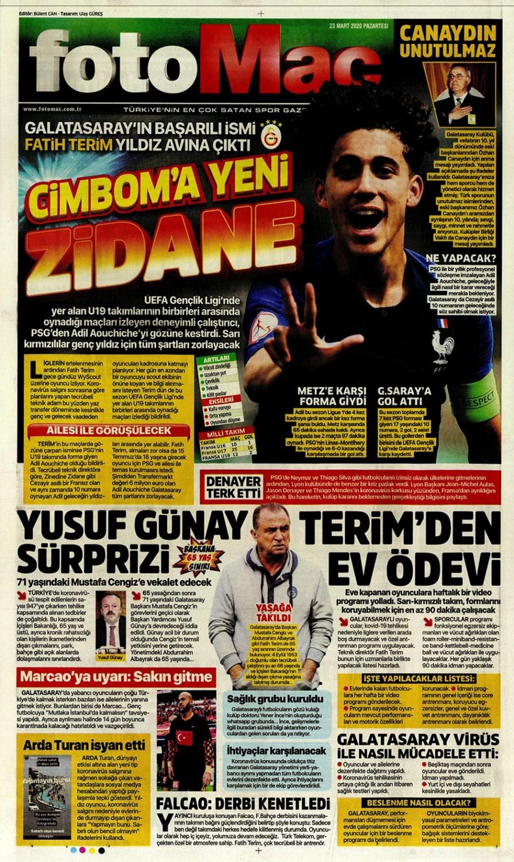 İşte 23 Mart günün spor manşetleri! Haftanın önemli spor gelişmeleri 1