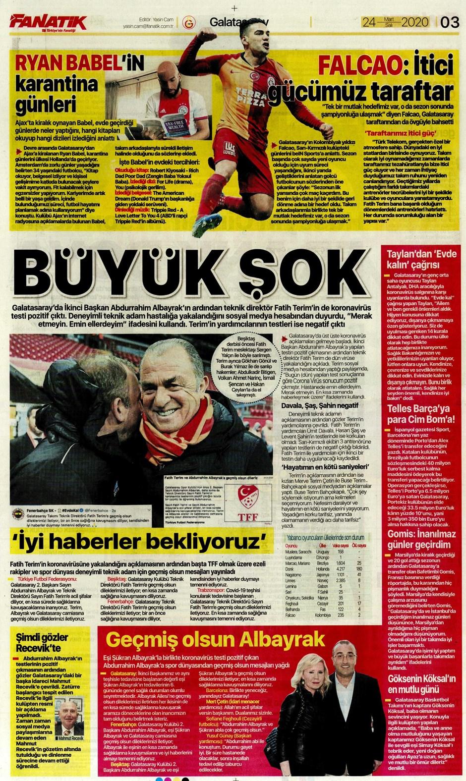 İşte 24 Mart günün spor manşetleri! Haftanın önemli spor gelişmeleri 1