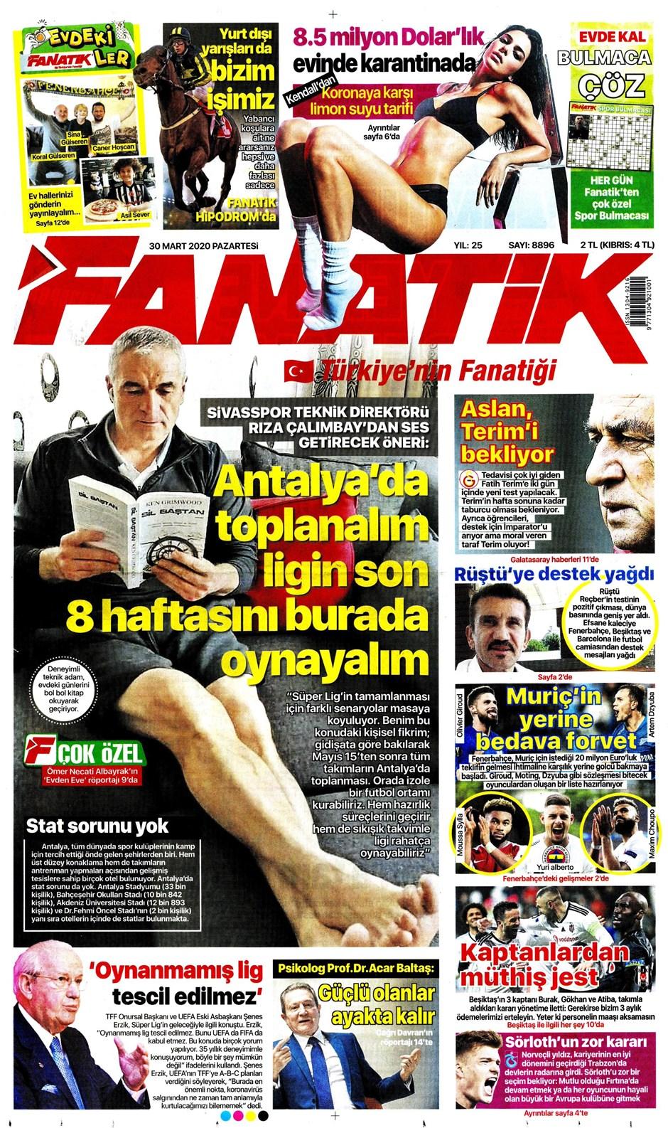 İşte 30 Mart günün spor manşetleri! Haftanın önemli spor gelişmeleri 1