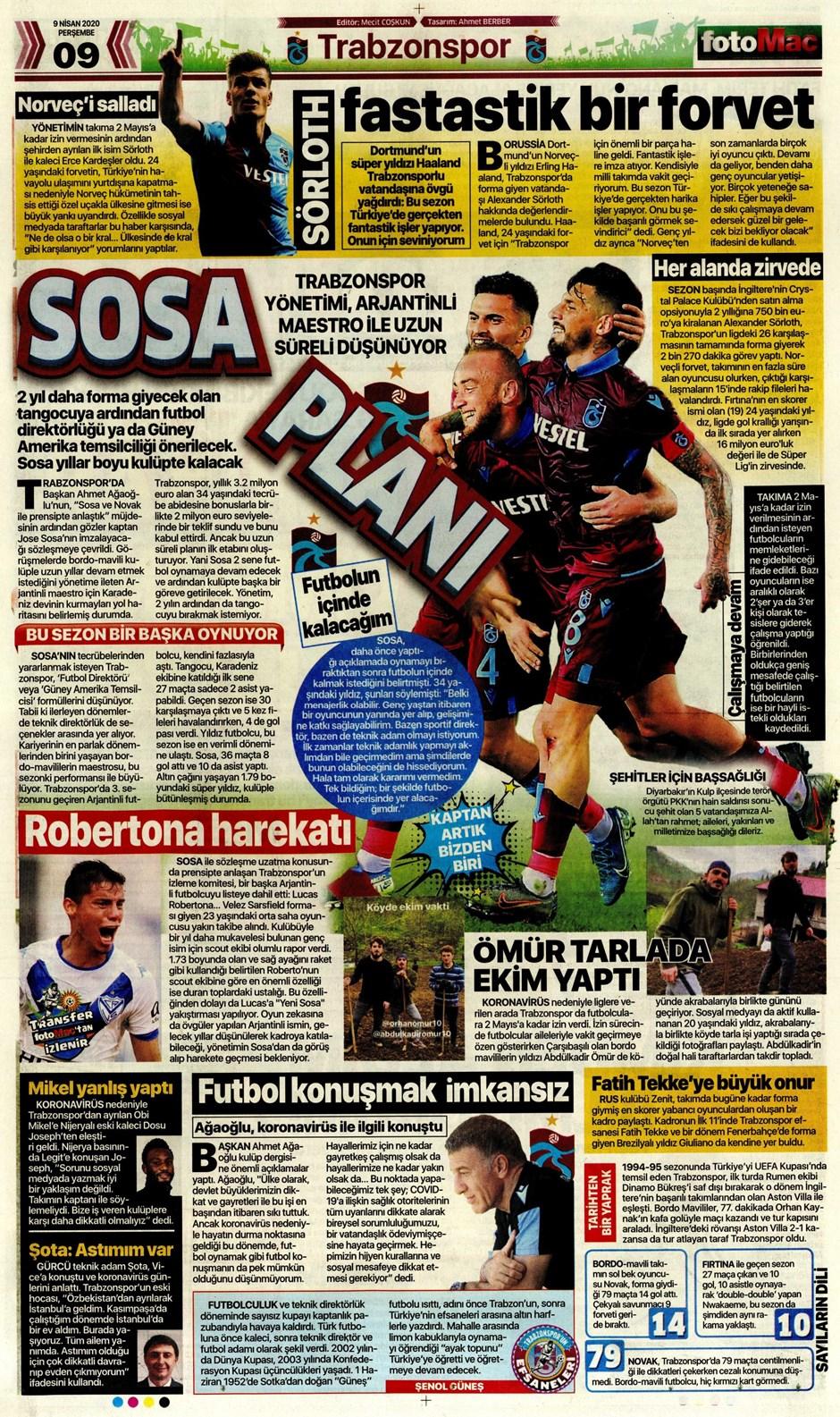 İşte 9 Nisan günün spor manşetleri! Haftanın önemli spor gelişmeleri 1