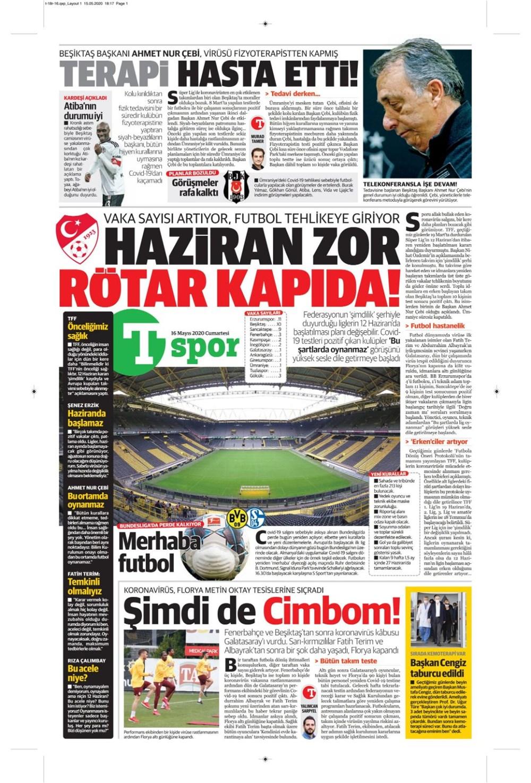 İşte 16 Mayıs günün spor manşetleri! Haftanın önemli spor gelişmeleri 1