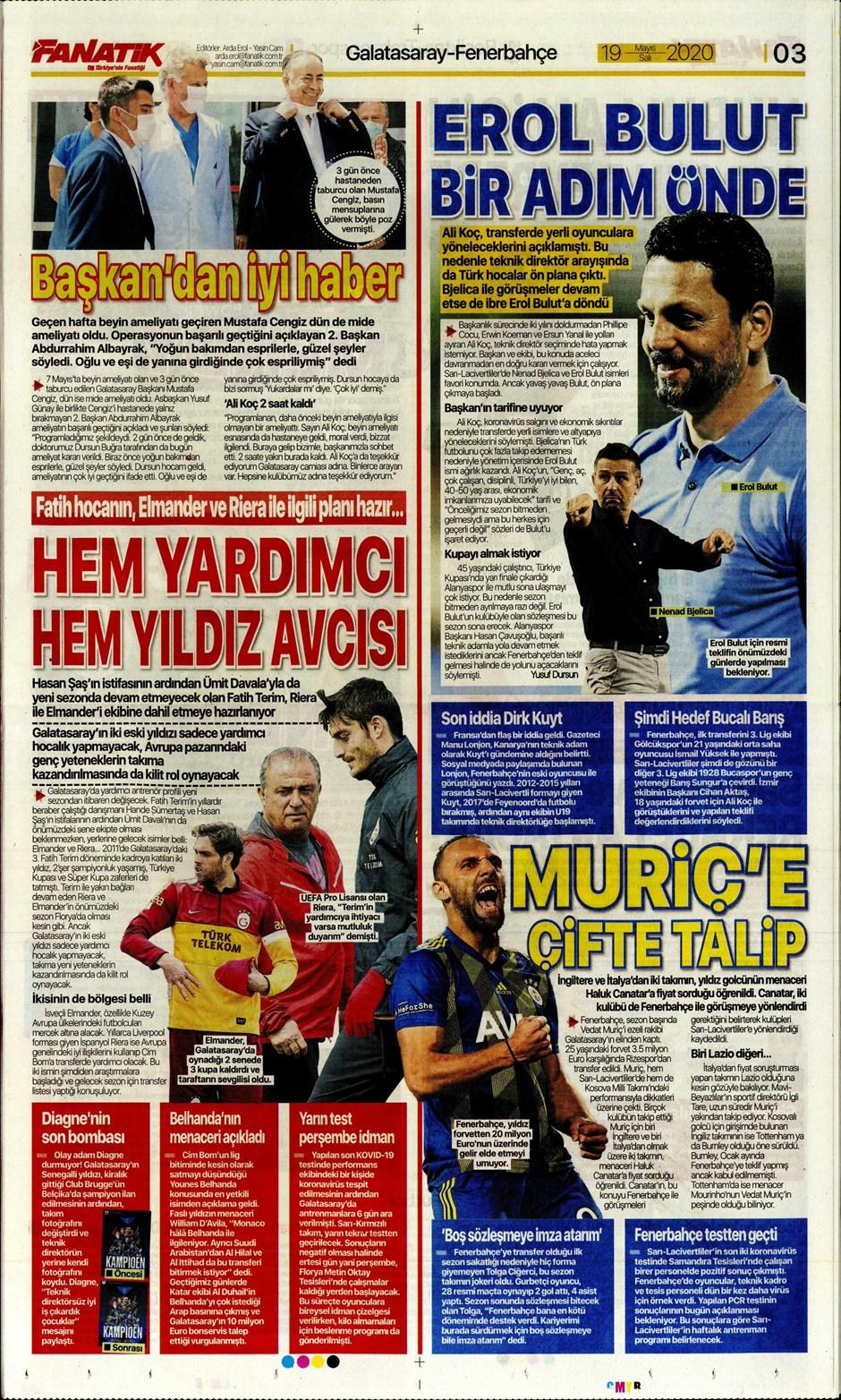 İşte 19 Mayıs günün spor manşetleri! Haftanın önemli spor gelişmeleri 1