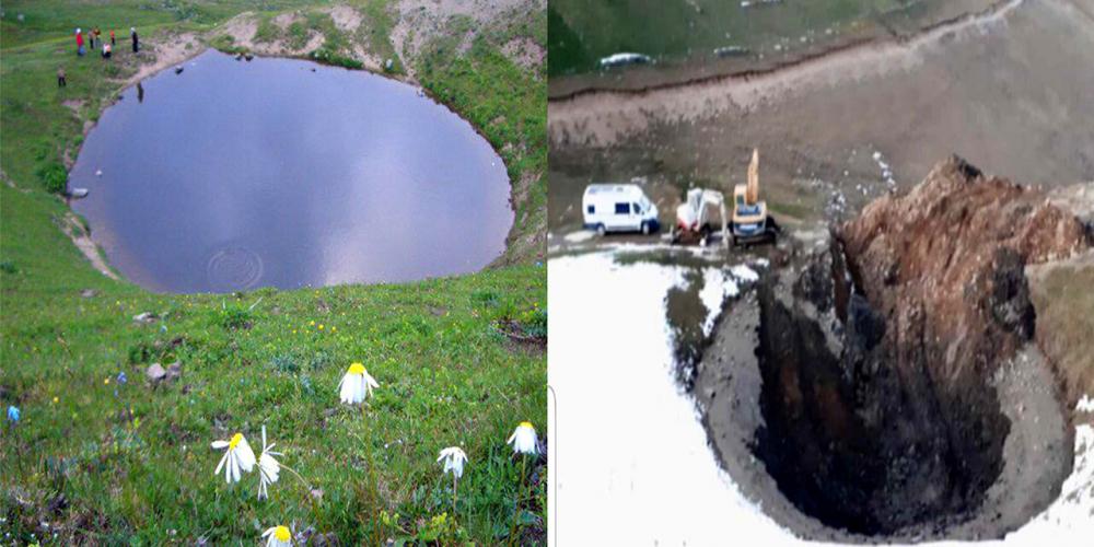 12 bin yıllık doğal miras define umuduyla katledilmişti! İşte Dipsiz Göl'ün son hali 1