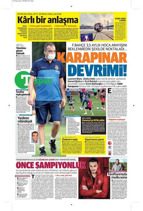 10 Haziran spor manşetleri! Üç büyükler transferde atağa kalktı 13