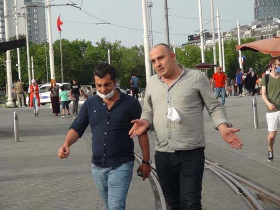 Taksim'de koronavirüs tedbirlerinden eser yok! 14