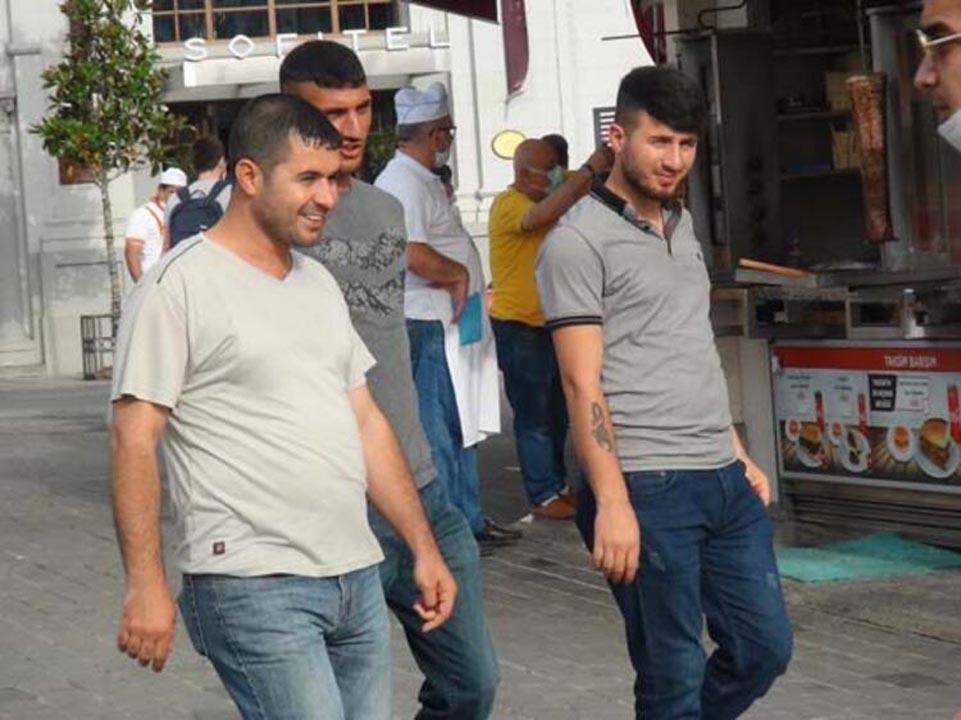 Taksim'de koronavirüs tedbirlerinden eser yok! 9