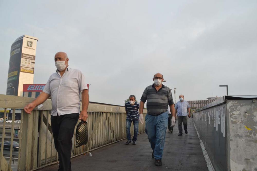 Maske takma zorunluğu başladı! İstanbullular güne maske takarak başladı 9