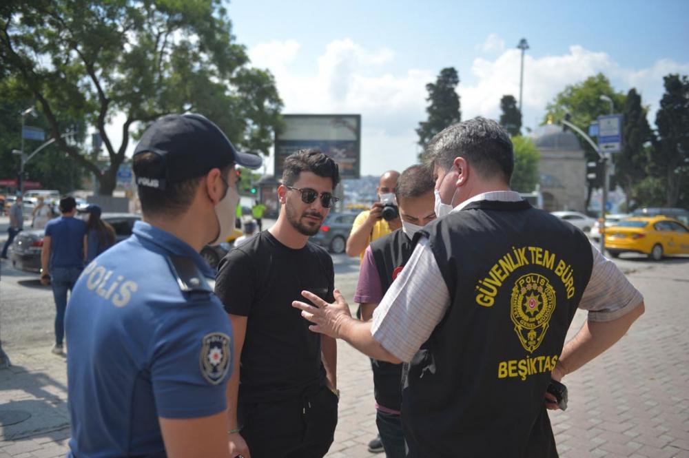 Beşiktaş ve Esenyurt'ta maske denetimi! Takmayı unutanlar cezadan kaçamadı 3