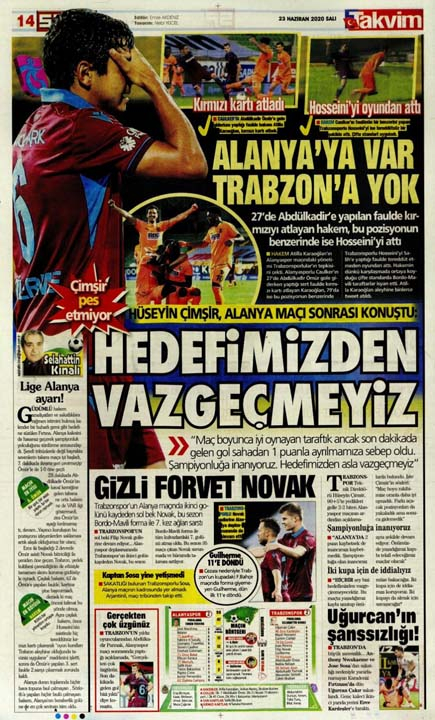 23 Haziran spor manşetleri! Fener'in hocası belli oldu, Trabzon'a Alanya'da çelme 11