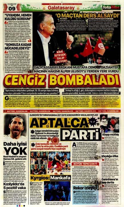 23 Haziran spor manşetleri! Fener'in hocası belli oldu, Trabzon'a Alanya'da çelme 12