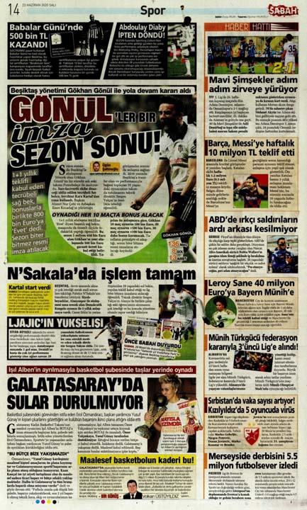 23 Haziran spor manşetleri! Fener'in hocası belli oldu, Trabzon'a Alanya'da çelme 16