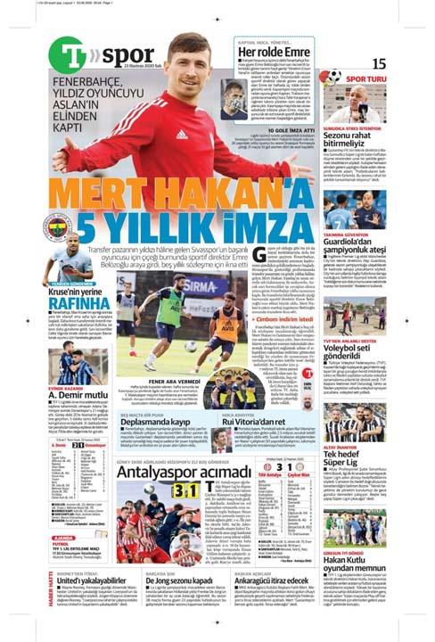 23 Haziran spor manşetleri! Fener'in hocası belli oldu, Trabzon'a Alanya'da çelme 19