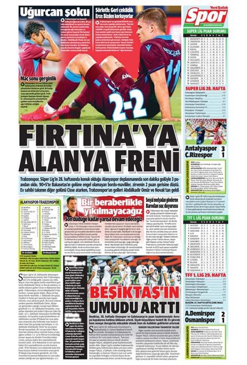 23 Haziran spor manşetleri! Fener'in hocası belli oldu, Trabzon'a Alanya'da çelme 20