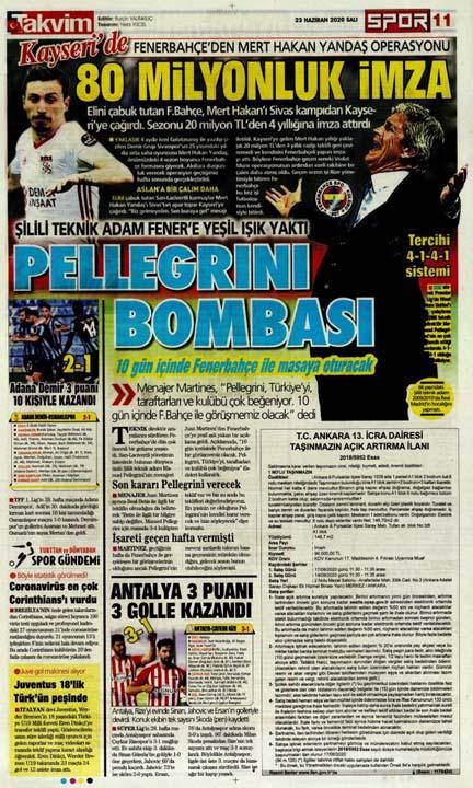 23 Haziran spor manşetleri! Fener'in hocası belli oldu, Trabzon'a Alanya'da çelme 4
