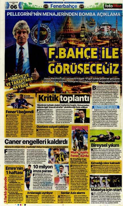 23 Haziran spor manşetleri! Fener'in hocası belli oldu, Trabzon'a Alanya'da çelme 5
