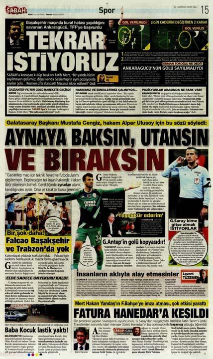 23 Haziran spor manşetleri! Fener'in hocası belli oldu, Trabzon'a Alanya'da çelme 6