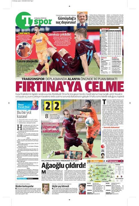 23 Haziran spor manşetleri! Fener'in hocası belli oldu, Trabzon'a Alanya'da çelme 9