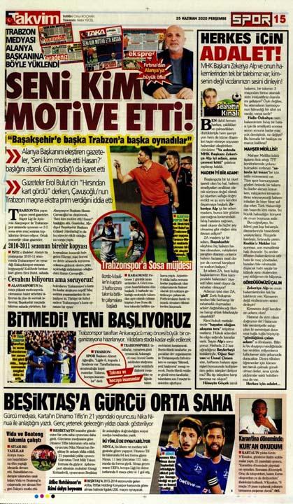 25 Haziran spor manşetleri! Fener transferde taarruza kalktı 1