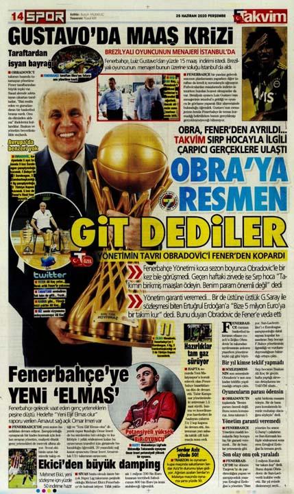 25 Haziran spor manşetleri! Fener transferde taarruza kalktı 14