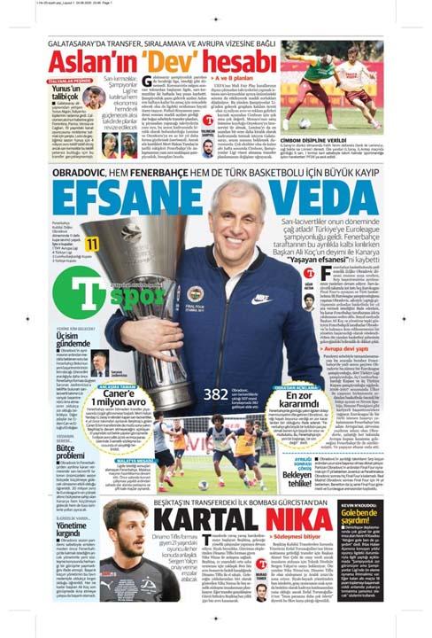 25 Haziran spor manşetleri! Fener transferde taarruza kalktı 4