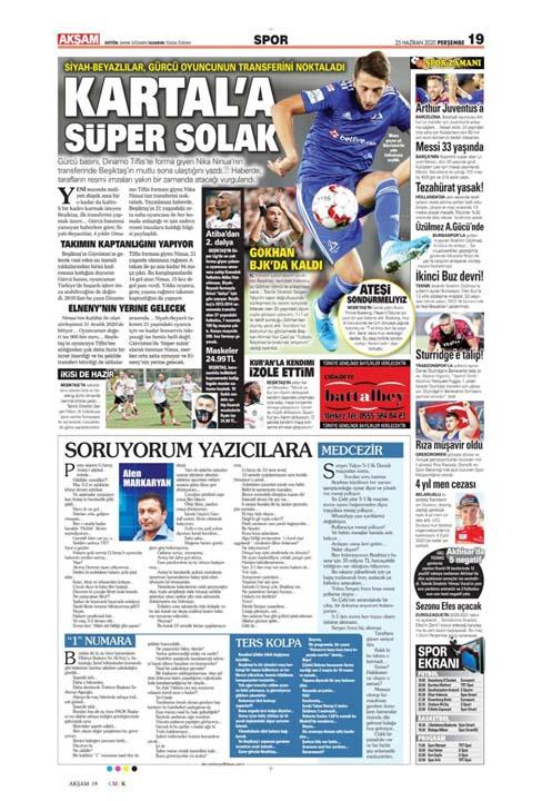 25 Haziran spor manşetleri! Fener transferde taarruza kalktı 5