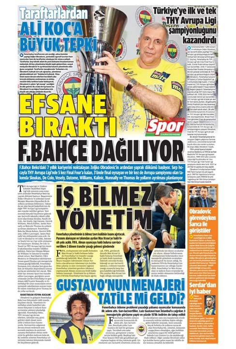 25 Haziran spor manşetleri! Fener transferde taarruza kalktı 8