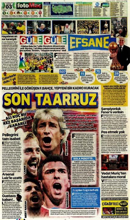 25 Haziran spor manşetleri! Fener transferde taarruza kalktı 9