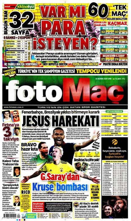 26 Haziran spor manşetleri! Galatasaray'dan çok konuşulacak hamle 13