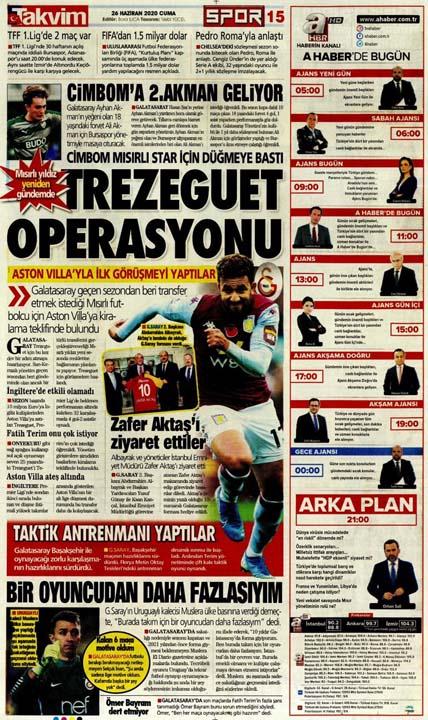 26 Haziran spor manşetleri! Galatasaray'dan çok konuşulacak hamle 2