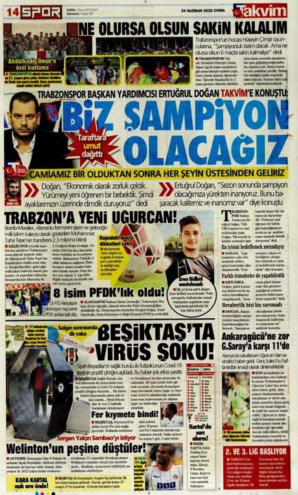 26 Haziran spor manşetleri! Galatasaray'dan çok konuşulacak hamle 8