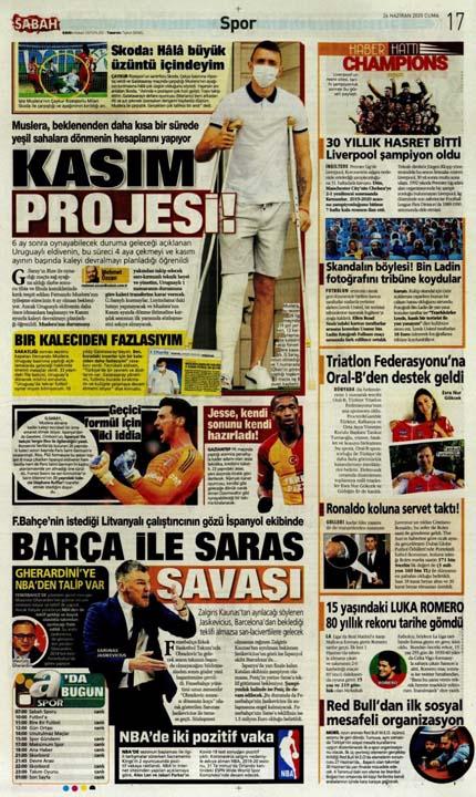 26 Haziran spor manşetleri! Galatasaray'dan çok konuşulacak hamle 9