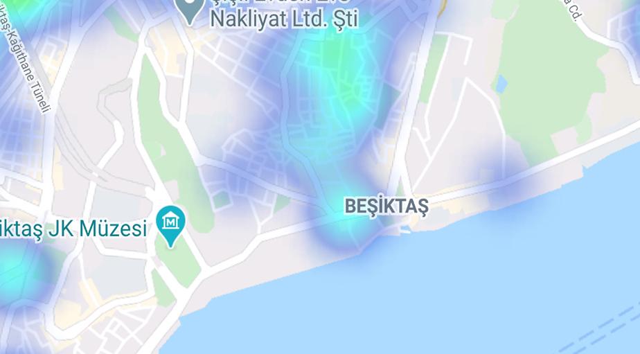 """""""Hayat Eve Sığar"""" uygulamasına göre ilçe ilçe İstanbul'un koronavirüs yoğunluk haritası 10"""