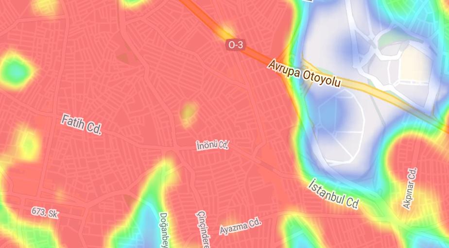 """""""Hayat Eve Sığar"""" uygulamasına göre ilçe ilçe İstanbul'un koronavirüs yoğunluk haritası 17"""