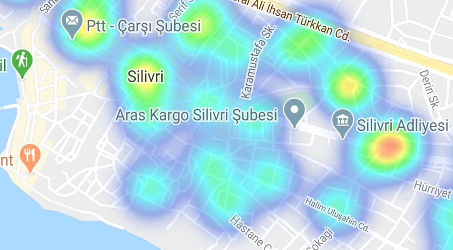 """""""Hayat Eve Sığar"""" uygulamasına göre ilçe ilçe İstanbul'un koronavirüs yoğunluk haritası 31"""