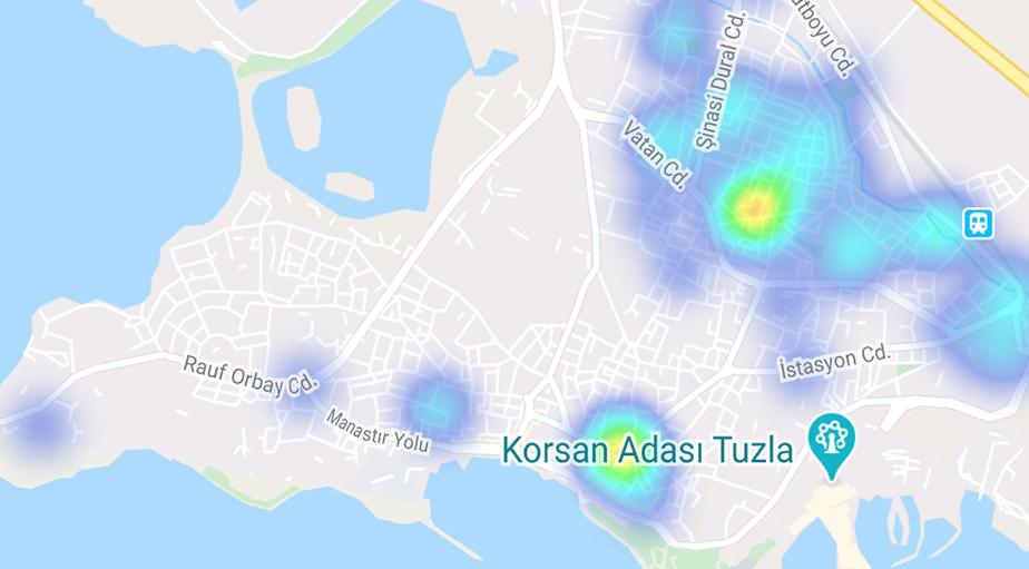 """""""Hayat Eve Sığar"""" uygulamasına göre ilçe ilçe İstanbul'un koronavirüs yoğunluk haritası 36"""