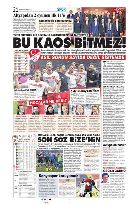 10 Temmuz günün spor manşetleri! 6