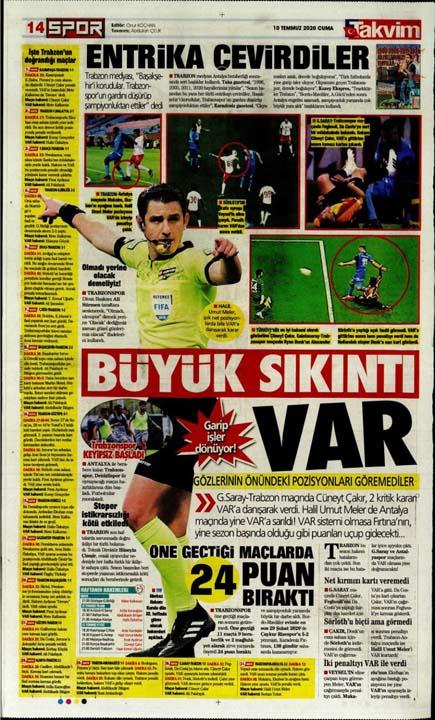 10 Temmuz günün spor manşetleri! 9