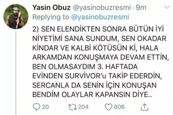 Yasin Obuz, Nisa'ya verdi veriştirdi! 3
