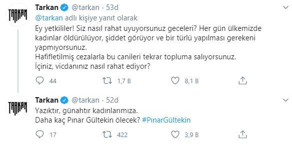 Megastar Tarkan'dan 'Pınar Gültekin' paylaşımı! 6