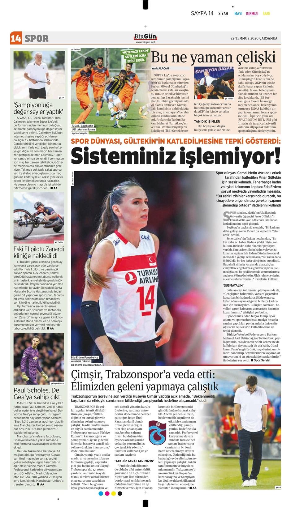 İşte 22 Temmuz günün spor manşetleri! Haftanın önemli spor gelişmeleri 3