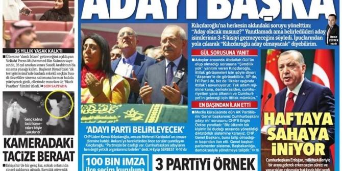 Gazete manşetleri 20 Nisan 2018 | Sabah - Habertürk - Sözcü