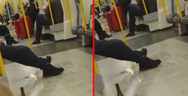 Metroya binenleri pişman eden olay: Cinsel organını çıkarıp ulu orta tuvaletini yaptı! 1