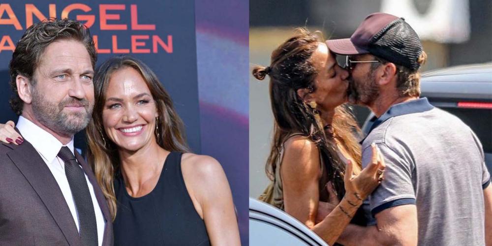 Morgan Brown Gerard Butler'ı öpücüklere boğdu! 1